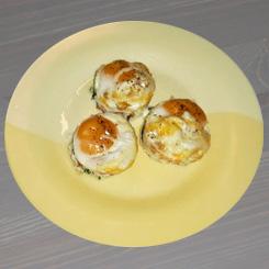 Яйцо запечённое со шпинатом и помидорами