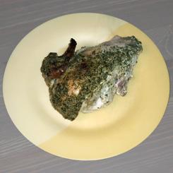 Жаренная курочка с чесночным соусом