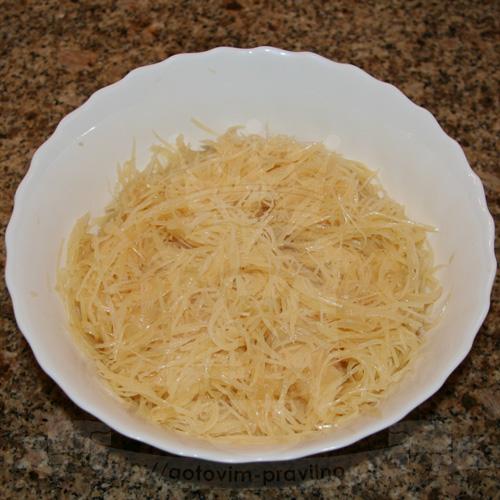 """Корейский салат """"Камдича"""" из картофеля"""