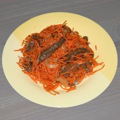 Корейская морковка с говядиной (салат хе)