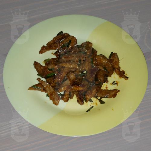 Свинина с имбирем и соевым соусом