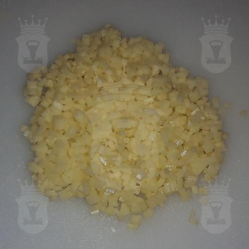картофель порезанный очень мелко