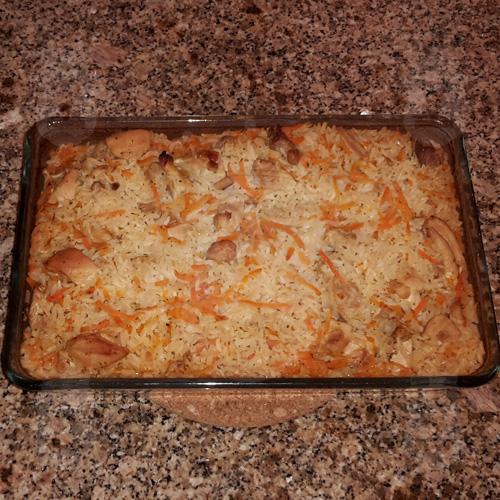 Рис с куриным филе в духовке