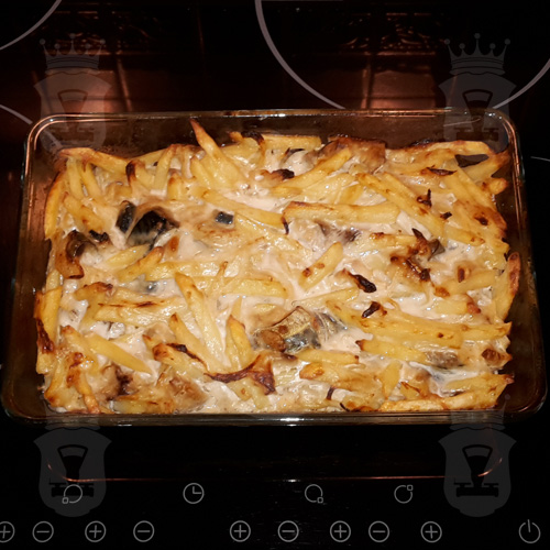 Скумбрия, запеченная с картофелем