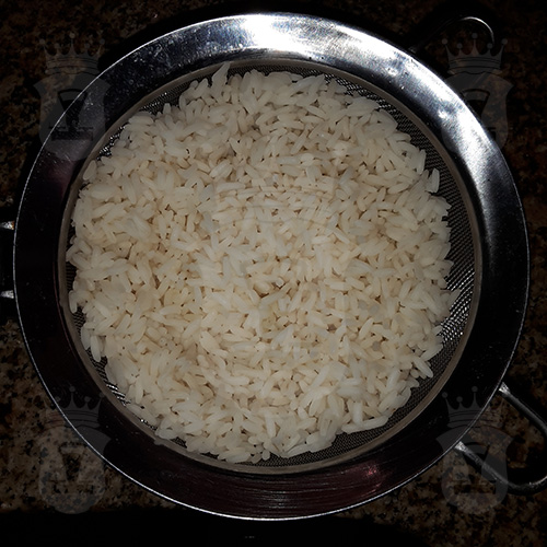 рис сваренный до полуготовности
