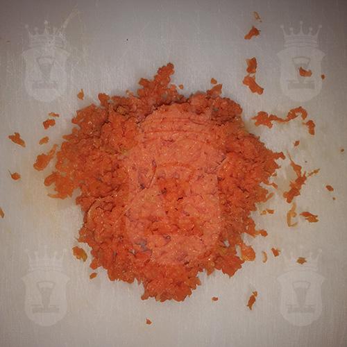 варёная морковь тёртая мелко