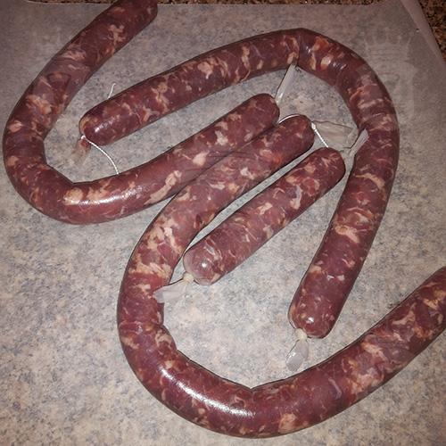 Колбаса из свиной шеи