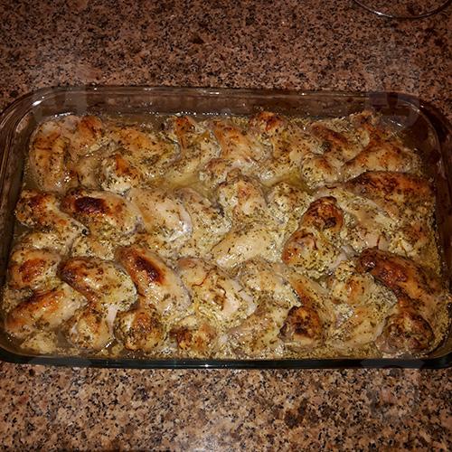 Курица в маринаде по-гречески