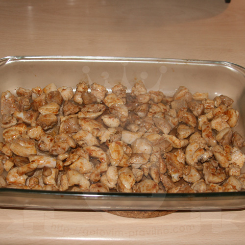 Запеканка из курицы с брокколи