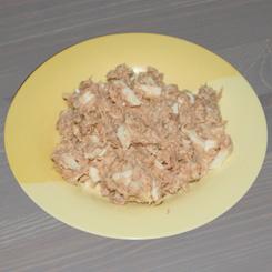 Салат из консервированной рыбы