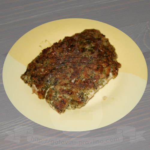 Куриное филе под хлебно-сырной корочкой