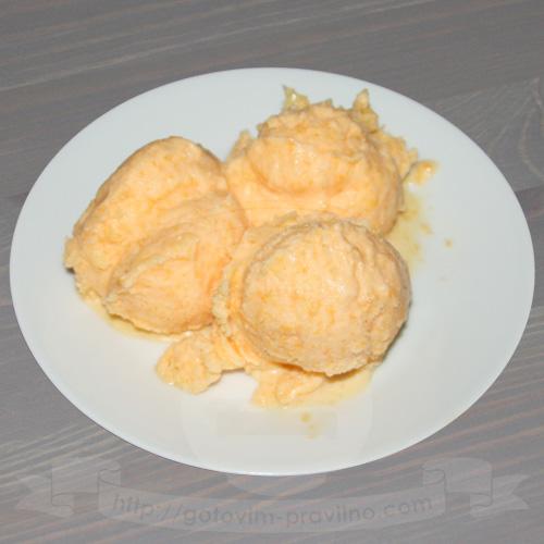 Мандариновое мороженое