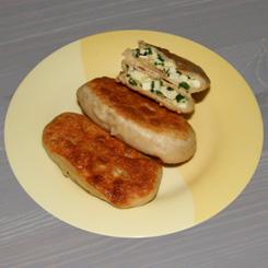 Жареные пирожки на кефире с яйцом и зелёным луком
