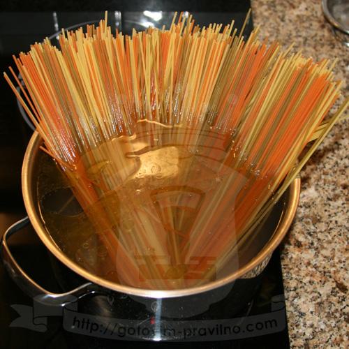 Спагетти с паштетом