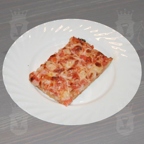 Пицца с креветками и крабовыми палочками