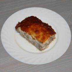 Мясной фарш с грибами под сыром