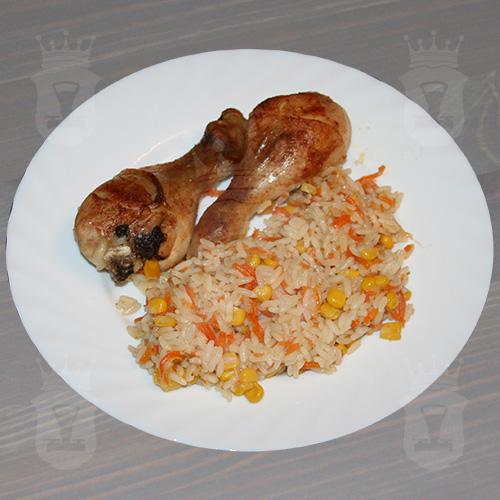 Куриные ножки запечённые с рисом