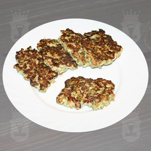 Куриные рубленые котлеты с брокколи и сладким перцем