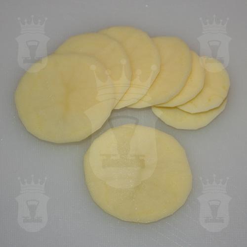 картофель порезанный кругляшками